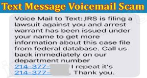 latest news Voicemail Text Scam